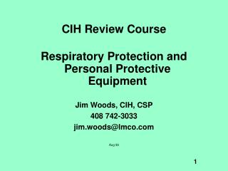 CIH Review Course