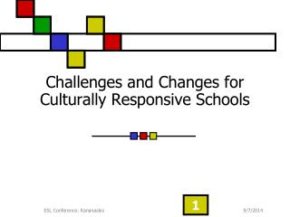 Challenges and Changes for Culturally Responsive Schools