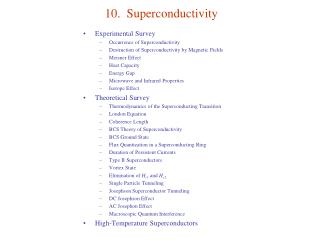 10.  Superconductivity
