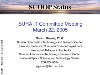 SURA IT Committee Meeting March 22, 2005