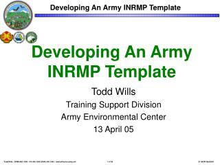 Developing An Army INRMP Template