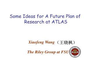 Some Ideas for A Future Plan of  Research at ATLAS