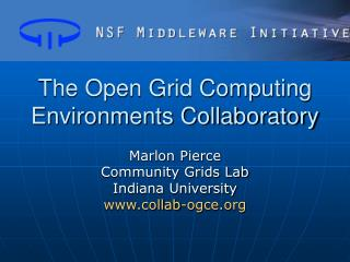The Open Grid Computing Environments Collaboratory