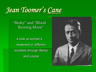 Jean Toomer's  Cane