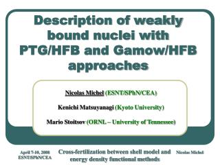 Description of weakly bound nuclei with PTG/HFB and Gamow/HFB approaches