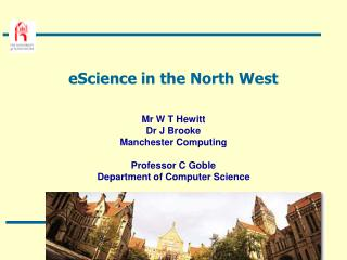 eScience in the North West