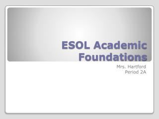 ESOL Academic Foundations