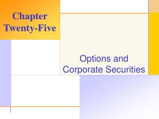Options and Corporate Securities