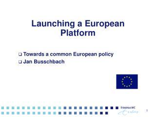 Launching a European Platform