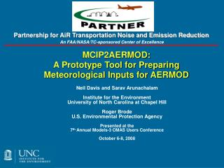 MCIP2AERMOD: A Prototype Tool for Preparing Meteorological Inputs for AERMOD