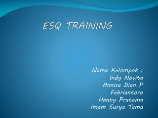 ESQ TRAINING