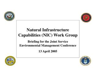 Natural Infrastructure Capabilities (NIC) Work Group