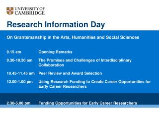 Research Information Day