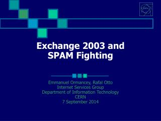 Exchange 2003 and SPAM Fighting