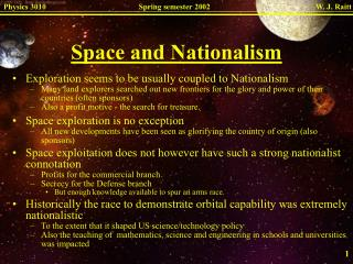 Space and Nationalism