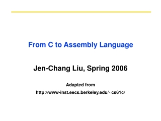 From C to Assembly Language