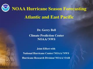 NOAA Hurricane Season Forecasting  Atlantic and East Pacific