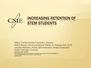 Increasing Retention of Stem Students