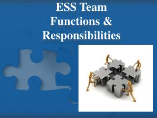 ESS Team Functions & Responsibilities