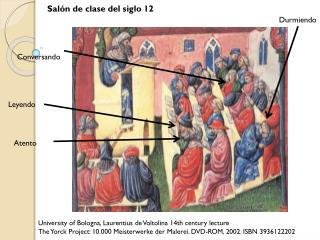 University of Bologna,  Laurentius  de  Voltolina  14th century lecture