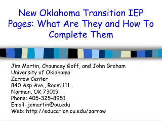 New Oklahoma Transition IEP Pages: What Are They and How To Complete Them