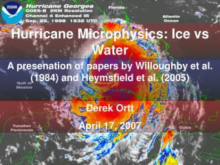 Hurricane Microphysics: Ice vs Water