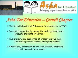 Asha For Education – Cornell Chapter