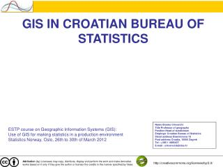 GIS IN CROATIAN BUREAU OF STATISTICS