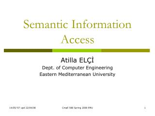 Semantic Information Access