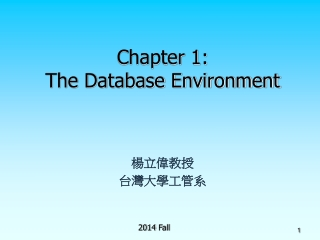 Chapter 1: The Database Environment