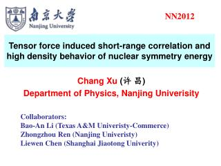Tensor force induced short-range correlation and high density behavior of nuclear symmetry energy