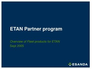 ETAN Partner program