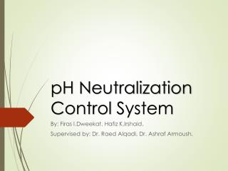 pH Neutralization Control  System