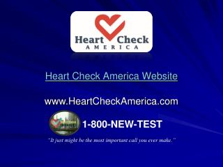 Heart Check America Website