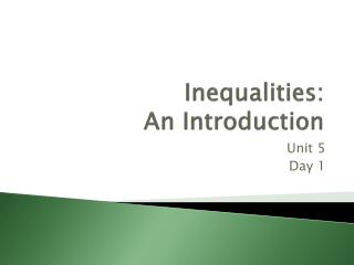 Inequalities: An Introduction
