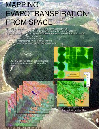 MAPPING  EVAPOTRANSPIRATION  FROM SPACE