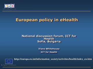 European policy in eHealth