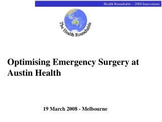 Optimising Emergency Surgery at Austin Health