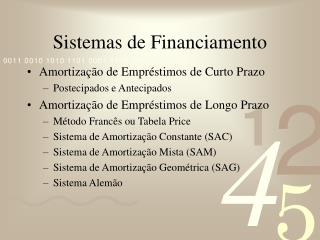 Sistemas de Financiamento