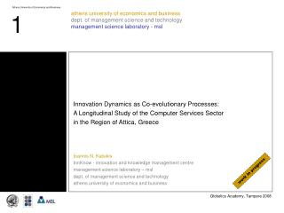 Innovation Dynamics as Co-evolutionary Processes: