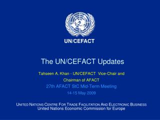 The UN/CEFACT Updates