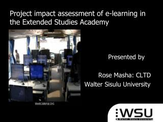 Project impact assessment of e-learning in the Extended Studies Academy