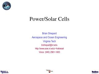 Power/Solar Cells