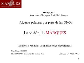 MARQUES Association of European Trade Mark Owners