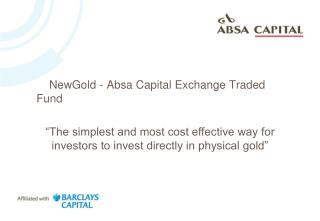 NewGold - Absa Capital Exchange Traded Fund
