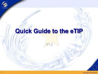 Quick Guide to the eTIP