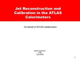 Jet Reconstruction and Calibration in the ATLAS Calorimeters