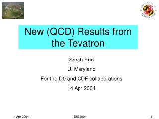New (QCD) Results from the Tevatron