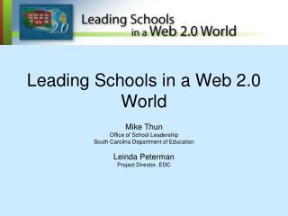 Leading Schools in a Web 2.0 World