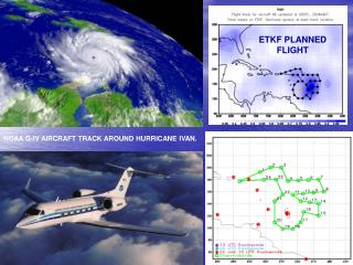 NOAA G-IV AIRCRAFT TRACK AROUND HURRICANE IVAN.